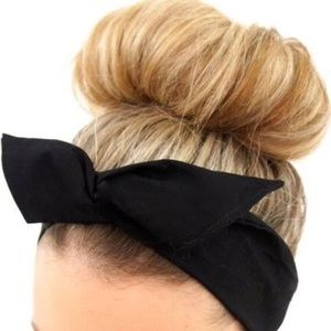 Accessories - Black Lace Wired Headband